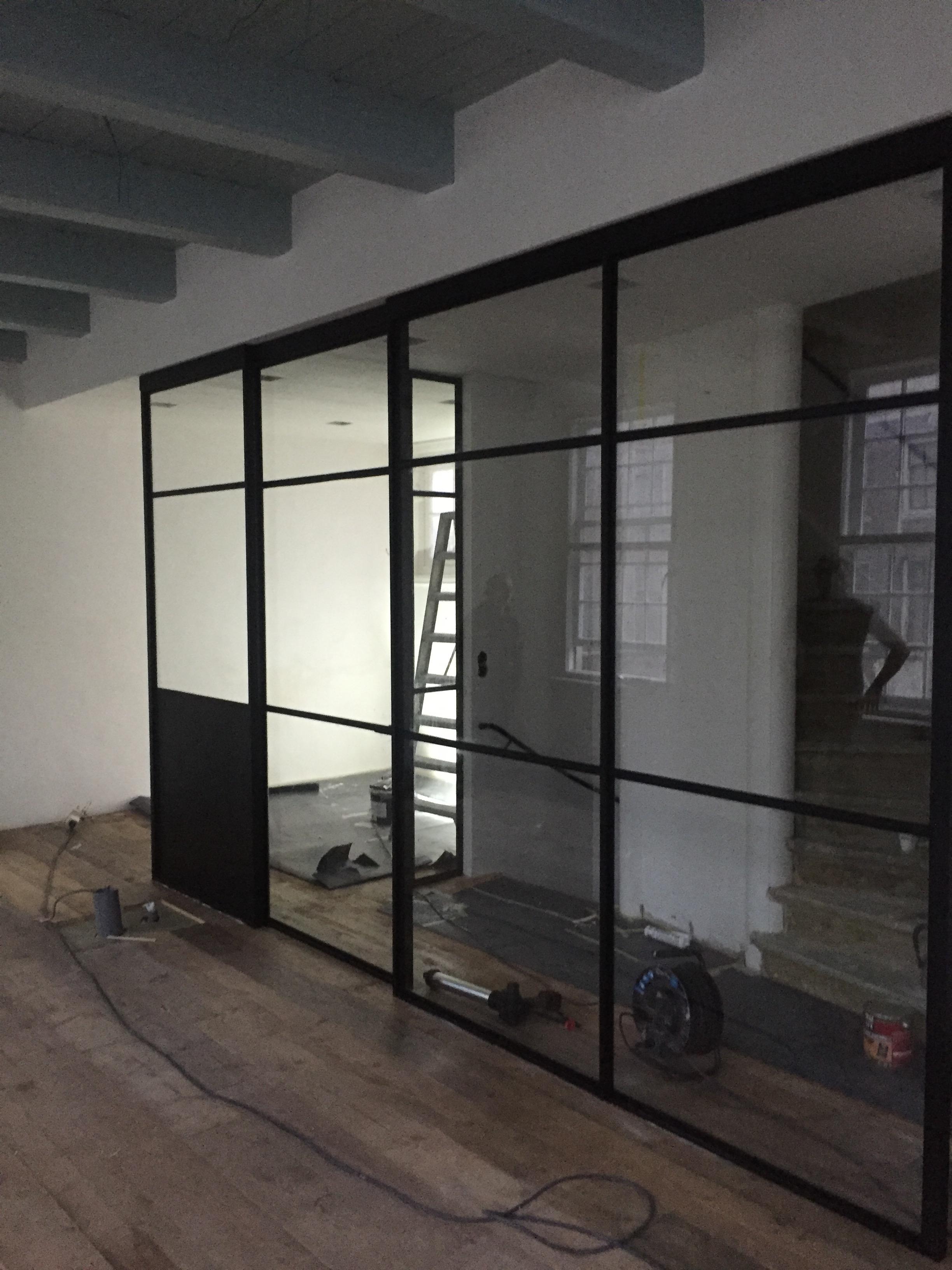 Stalen schuifdeuren for Binnen interieur